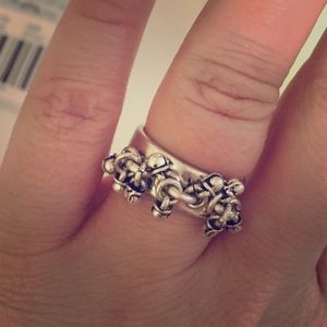 Madewell silver charm ring - size 8 - never worn
